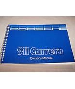 1985 Porsche 911 Carrera Owners Manual Reprint Parts Service 1986 911 new - $98.99