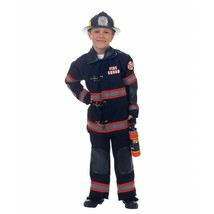 Underwraps Pompier Pompiers Uniforme Noir Enfants Déguisement Halloween ... - $41.98