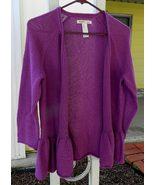 Sweater  purple cardigan  small  1 thumbtall