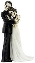 Embracing Wedding Bridal Skeleton Couple Decorative Figurine - $28.54