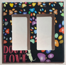 Dog is Love Foot Print Light Switch Outlet Duplex Wall Cover Plate Home Decor image 4