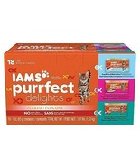Iams Purrfect Delights Flaked Adult Wet Cat Food, Variety Pack Seafood, ... - $11.72