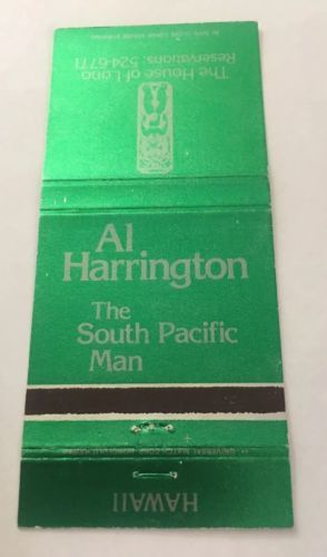 Primary image for Vintage Matchbook Cover Matchcover Al Harrington South Pacific Restaurant HI #2