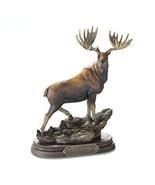 Noble Beast Moose Montana Bronze Big Sky Carvers Sculpture Marc Pierce G... - $118.75