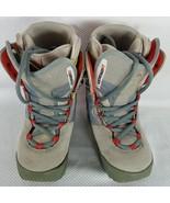 Burton Ruler Snowshoes Snow Shoes Boots Snowboard Womens 7 Gray Orange - $51.94