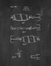 Fishing Lure Patent Print - Chalkboard - $7.95+