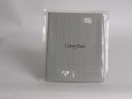 Calvin Klein PETALS Mini Stripe Silver King Pillowcases - $47.45