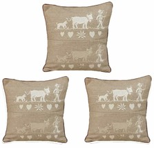 Embroidered cushion cloth (set of 3) 30 x 30 CM... - $24.00