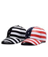 Stars And Stripes Baseball Cap 4th of July Hat Usa Flag American Men Sna... - $19.99