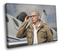Pitbull Plane Sunglass Hip Hop Pop Music Rare Decor Framed Canvas Print - $14.96+