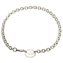 """Tiffany & Co Argent Sterling 2350cmreturn To """" Oval Collier Étiquette 39.4cm - $311.86"""