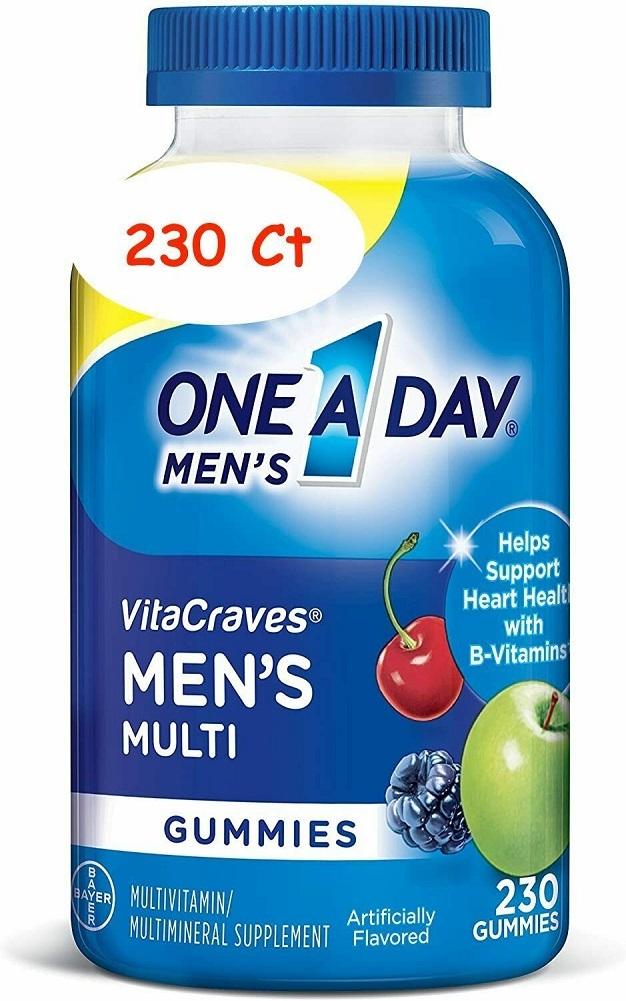 ONE A DAY MEN'S VITA CRAVES GUMMIES 230 Ct MULTIVITAMIN MULTIMINERAL SUPPLEMENT - $101.95
