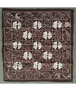 Cloth Board for Tak: A Beautiful Game - Dark Brown & White - $7.00