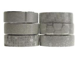 6 Rolls of Silver Washi Tape by Crafty Rolls