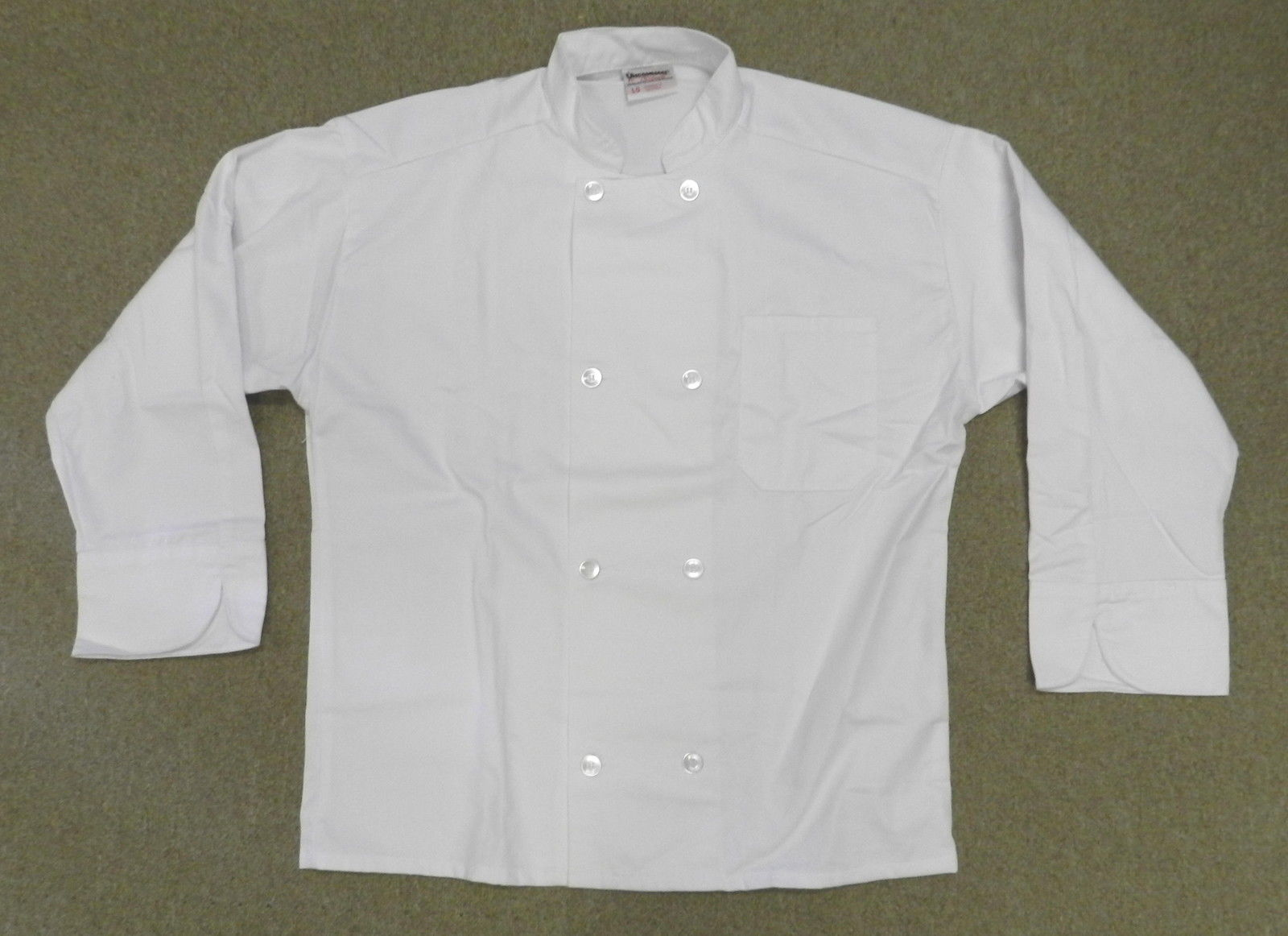 Primary image for Executive Chef Coat Jacket White L Uncommon Threads JS400 Restaurant Uniform New