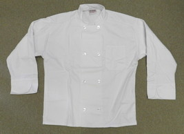 Executive Chef Coat Jacket White L Uncommon Threads JS400 Restaurant Uni... - $24.47