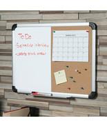 "NEW Universal Dry Erase Cork Board Combo W/ Tray & Hardware 18"" x 24"" UN... - $23.65"
