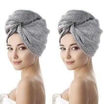 Yolife Organic Bamboo Microfiber Hair Towel Wrap, Super Absorbent Quick Hair Dry