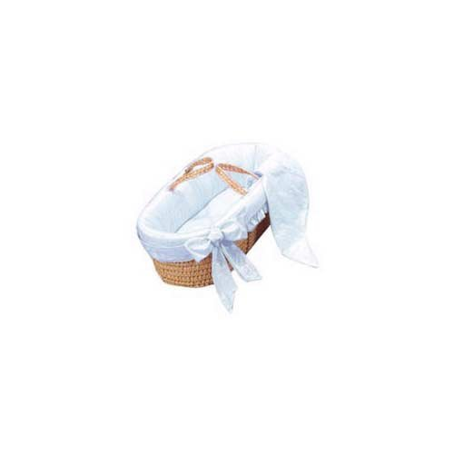 Baby Doll Bedding Primma Donna Moses Basket, Blue