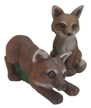 Baby Foxes Garden Statues Outdoor Lawn Yard Decor 2 pcs - $21.99