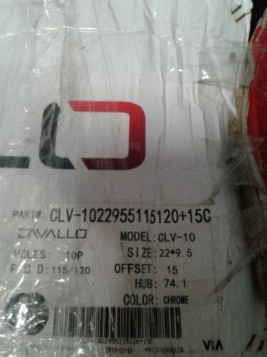 "Cavallo Wheels CLV-10 Chrome 22""X9.5 CUSTOM WHEEL RIM (1 Wheel) (jew)"