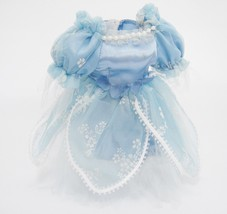 Vintage Doll Clothes Blue Satin Fancy Princess Dress w Bloomers Nylon Ne... - $13.85
