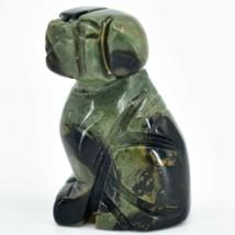 Kambaba Jasper Gemstone Tiny Miniature Puppy Dog Figurine Hand Carved in China image 2