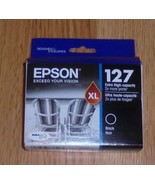 Genuine Epson 127XL Black Ink Cartridge Dated 2022 New 127 XL New In Box - $32.71