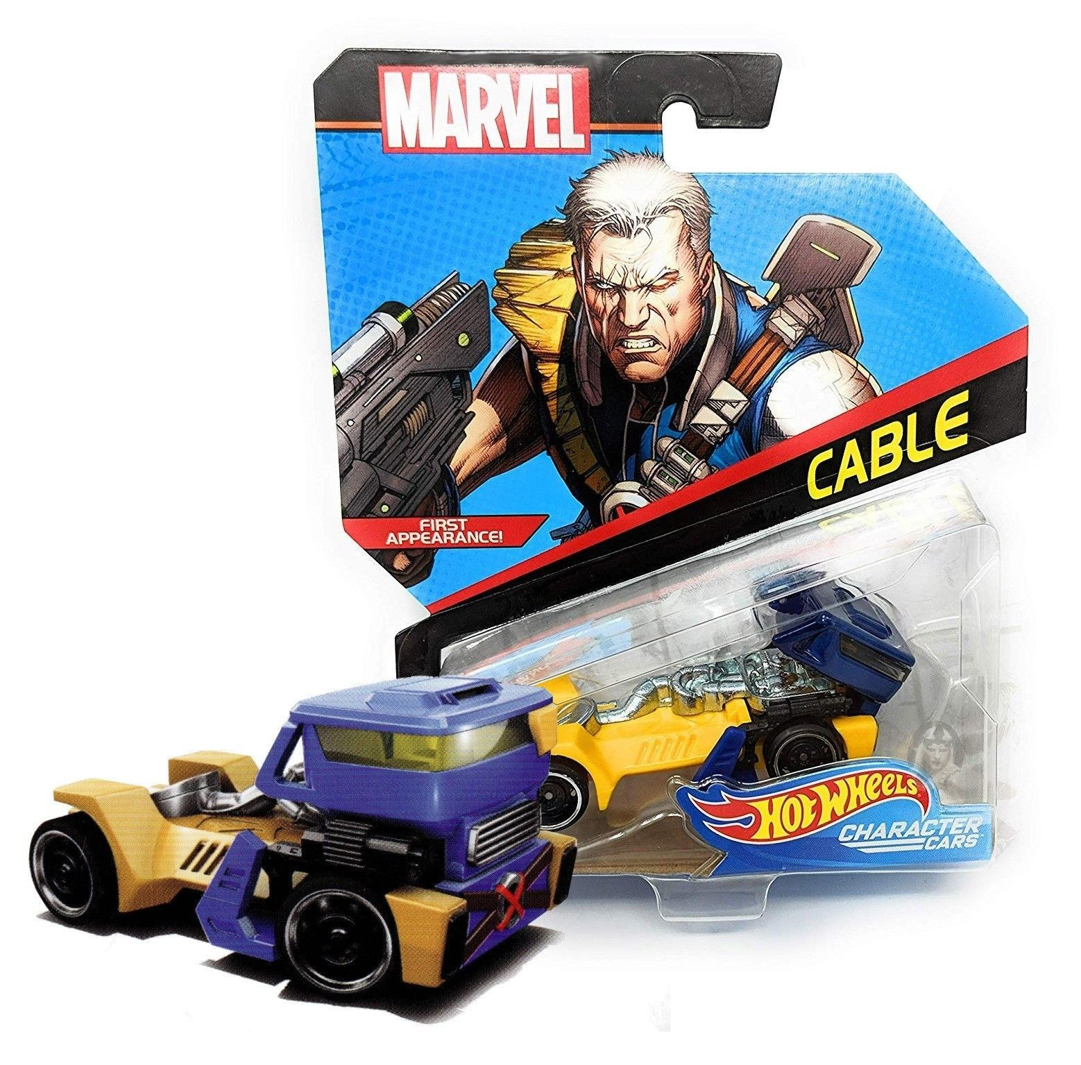 Hot Wheels Marvel Cable Character Cars Mint on Card