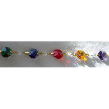 Colored Crystal Gold Bailed Octagon Bracelet image 2