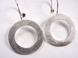 Circle Earrings 925 Sterling Silver Wire Back Corona Sun Jewelry - $11.87
