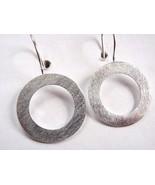 Circle Earrings 925 Sterling Silver Wire Back Corona Sun Jewelry - $11.87