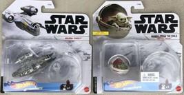 Hot Wheels Star Wars Starships Razor Crest & The Child Hover Pram Diecas... - $31.95