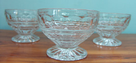 Thumbprint Vintage Clear Glass Sherbet Dessert Sauce Bowl Dishes Lot of 3 - $9.84