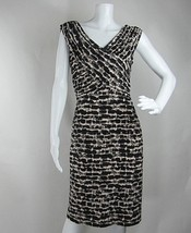 Adrianna Papell Sheath Dress Sleeveles V neckline Animal Print Stretch Size 10 - $26.64
