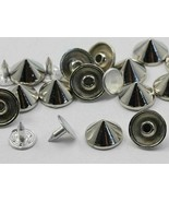 11mm Silver Spike Studs with nail - 20 Pieces - $5.79