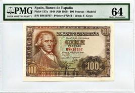 Spain: 1948 100 Pesetas PMG 64 (P-137a) - $247.34