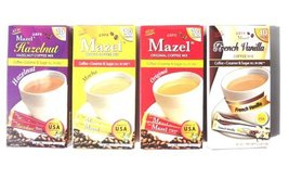 Instant Coffee Packets with Cream & Sugar - 4 Flavors - Hazelnut, Vanill... - $35.63