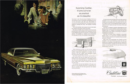 Vintage 1971 2-Page Magazine Ad Cadillac Turns Out As Practical As Beautiful - $5.93