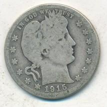 1915-S BARBER SILVER QUARTER-SEMI KEY-NICE CIRCULATED QUARTER-FREE S/H! ... - $22.95