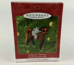 A Pony for Christmas Christmas Tree Ornament | 2001 Hallmark Exclusive - $12.16