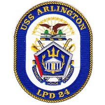 US Navy USS Arlington LPD-24 Amphibious Transport Dock Patch - $11.87