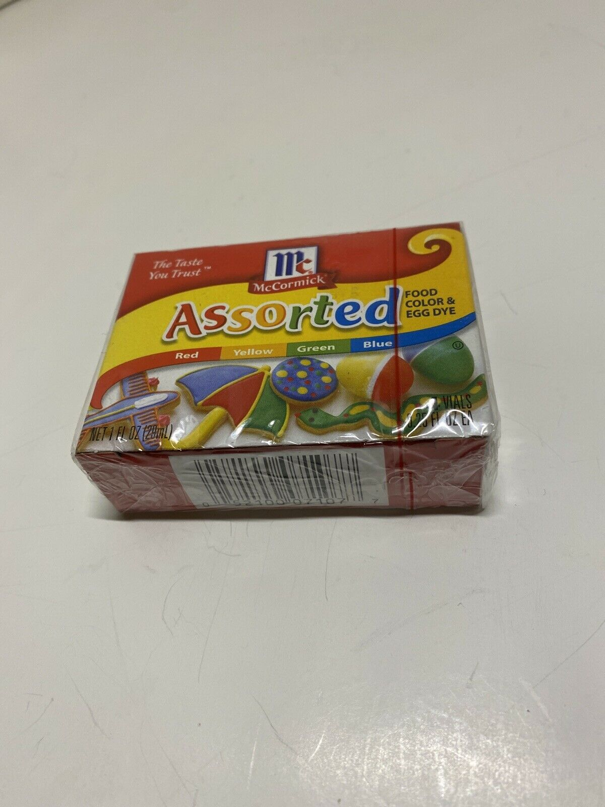 Primary image for McCormick Assorted Food Color & Egg Dye 4 Tubes - 1 fl oz total- New Sealed Box