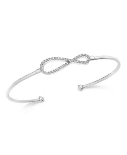 Charter Club Pavé Infinity Cuff Bracelet - $11.75