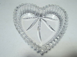 Wedgewood Crystal Trinket Heart Shaped Dish ~ signed - $19.95