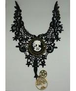 Gothic Lace skeleton cameo choker - $24.00