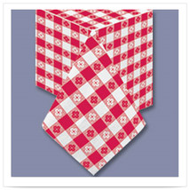 54 x 54 Red Gingham Tablecover 2 Ply Tissue 1 Ply Poly/Case of 50 - ₨12,858.73 INR