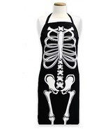 Glow-in-the-Dark Skeleton Apron in Black - $606,43 MXN