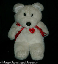 "15 "" Vintage Applause Bianco Sweetheart Serenate Orsacchiotto Peluche Rosso - $39.63"