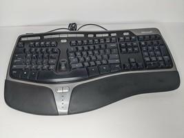 Microsoft Natural Ergonomic USB/Wired Keyboard 4000 v1.0 Tested & Working - $38.39